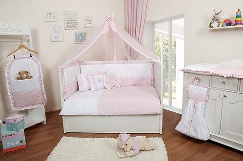 Ebruli Uyku Seti Pembe-Beyaz