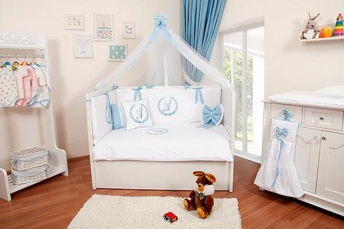 İsme Özel Uyku Seti Beyaz-Mavi