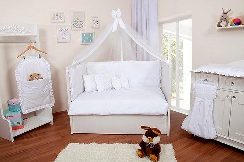 Ebruli Uyku Seti Beyaz