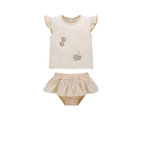 Conjunto para Bebé con Cubre Pañales Glu-Glu