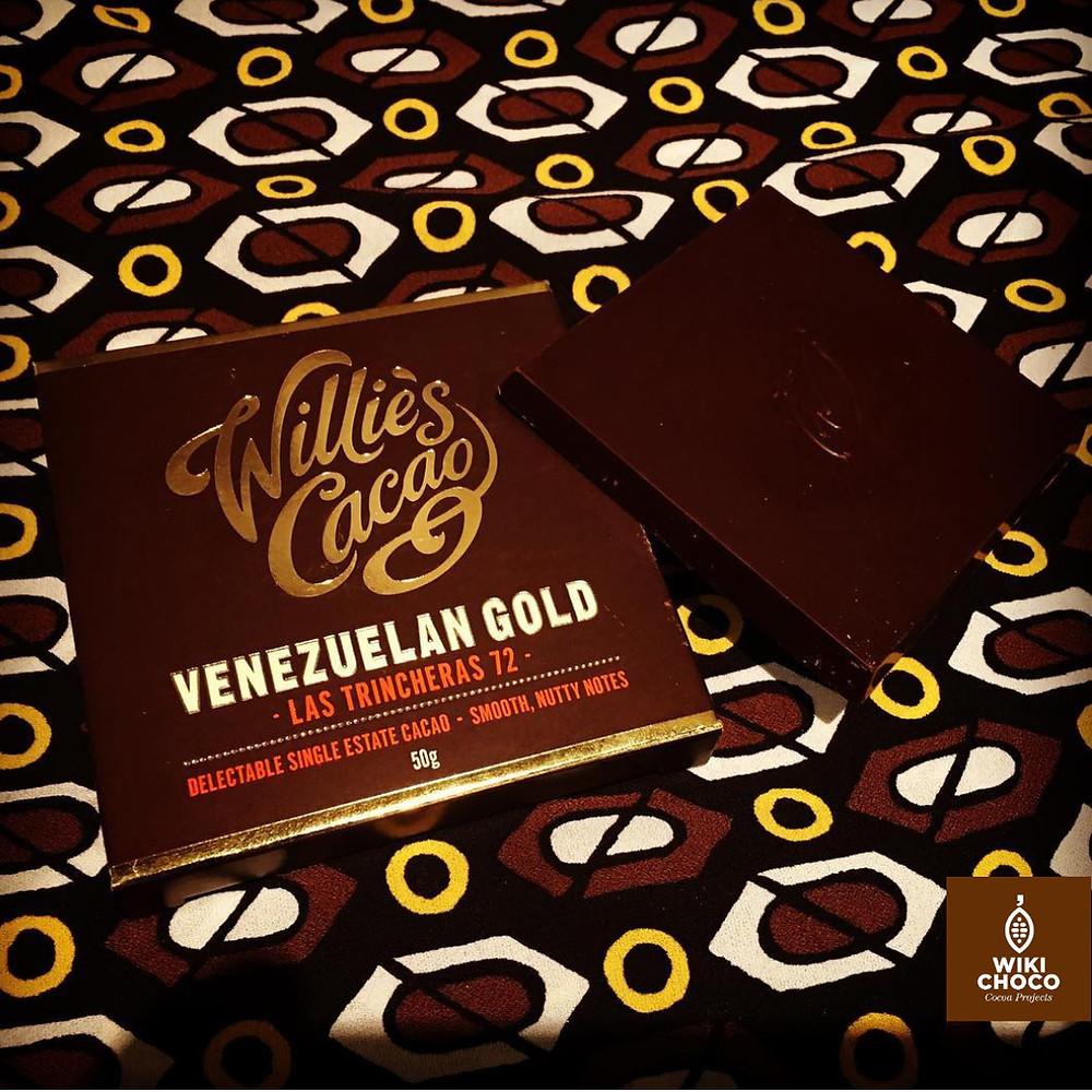 Chocolate venezolano trinitario 72% Cacao