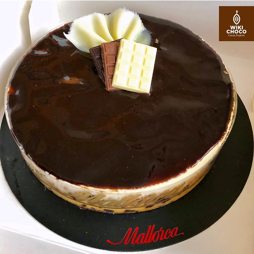 Tarta tres chocolates pastelería Mallorca en wikichoco