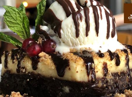 Descubre el brownie con cheese cake de El perro y la galleta