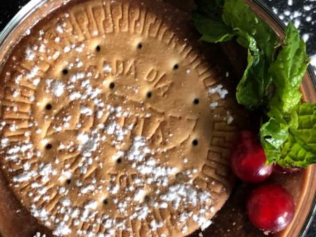 Descubre la tarta de Chocolate y galletas María del restaurante El perro y la galleta