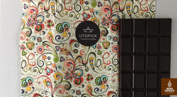 Chocolate noir Utopick bean to bar envoltorio