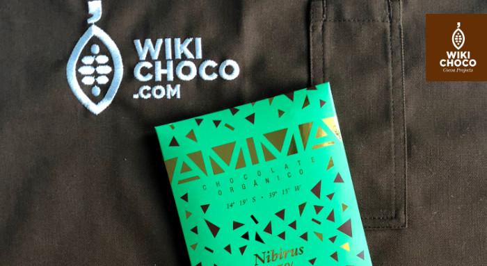 chocolate con nibs de la marca Amma