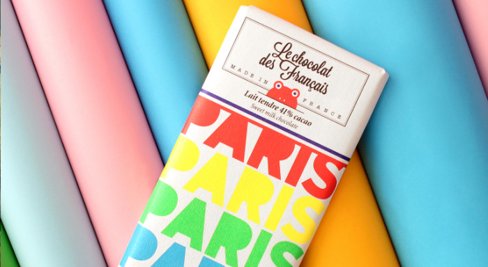 diseño del packaking de las tabletas de le chocolat des français