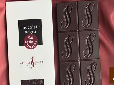 Chocolate oscuro con lo mejor de la sal de vino de garnacha