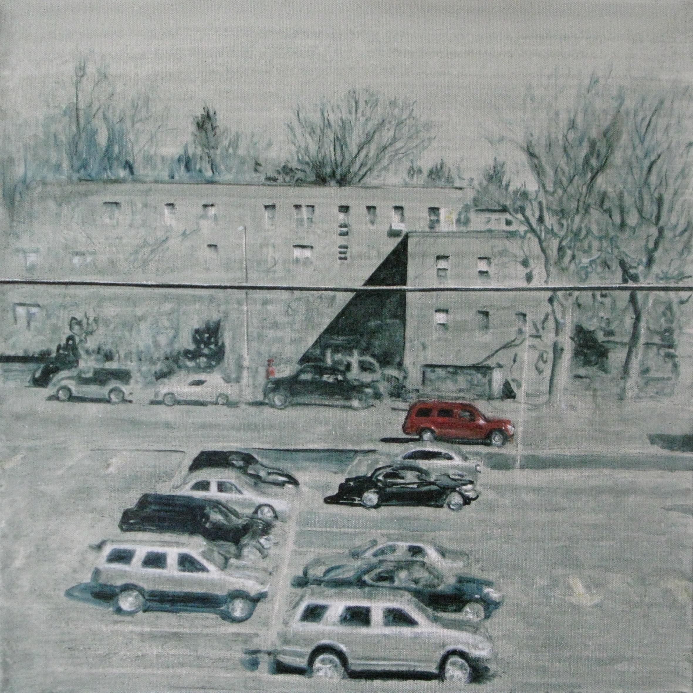 Marguerite Horner 2011. Come on lets go. oil on canvas. 50x50cm.