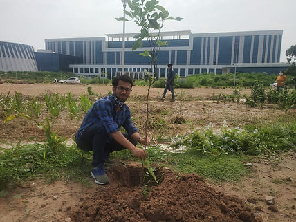 Mr. Raihan planting a tree at the main campus of INST