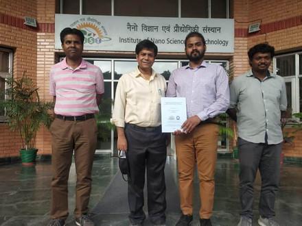 Mr. Nitya earns PhD degree from IISER Mohali (INST) under the supervision of Prof. Abir De Sarkar