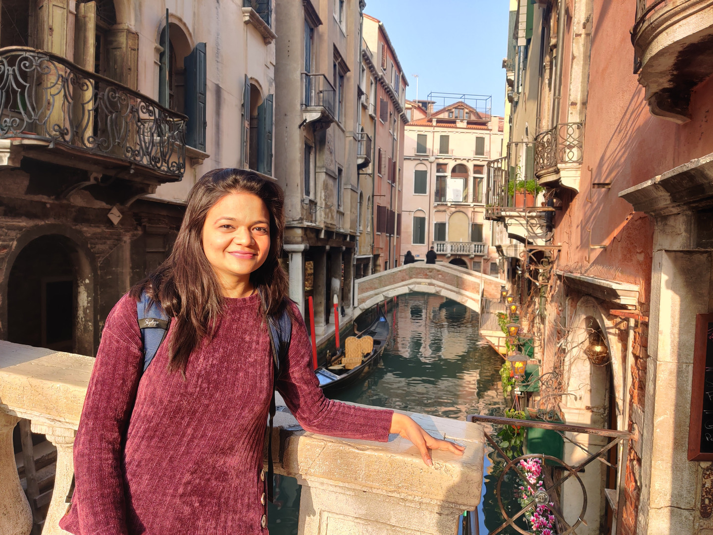 Ms. Ashima, SRF in Italy for a conference