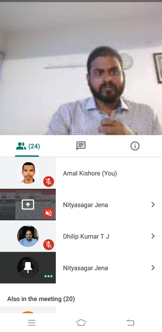 Mr. Nitya during viva voce via online mode