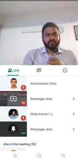 Mr. Nitya during viva voce via online mode