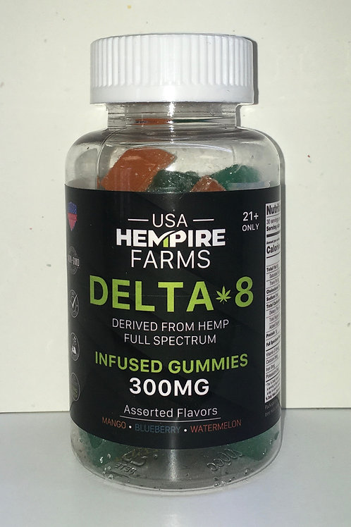 Delta-8 CBD Infused Gummies 300mg