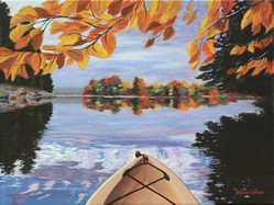 Fall Kayak Reflection