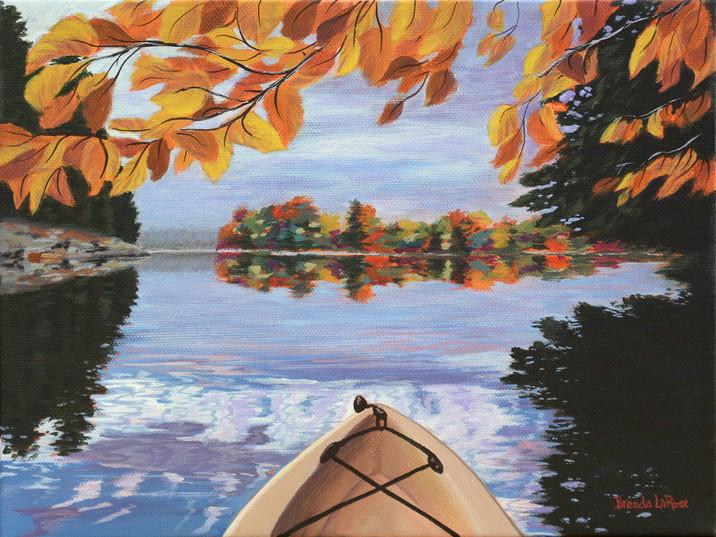 Fall Kayak Reflection