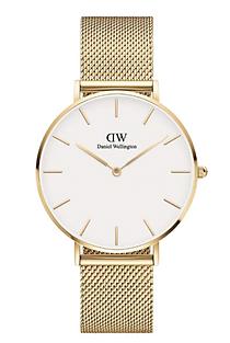 Daniel Wellington Men White Petite Gold Watch