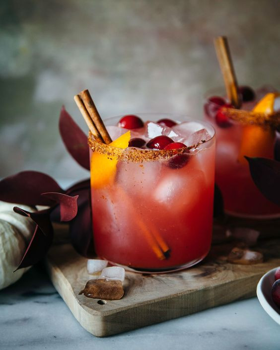 Spiced Cranberry Margherita