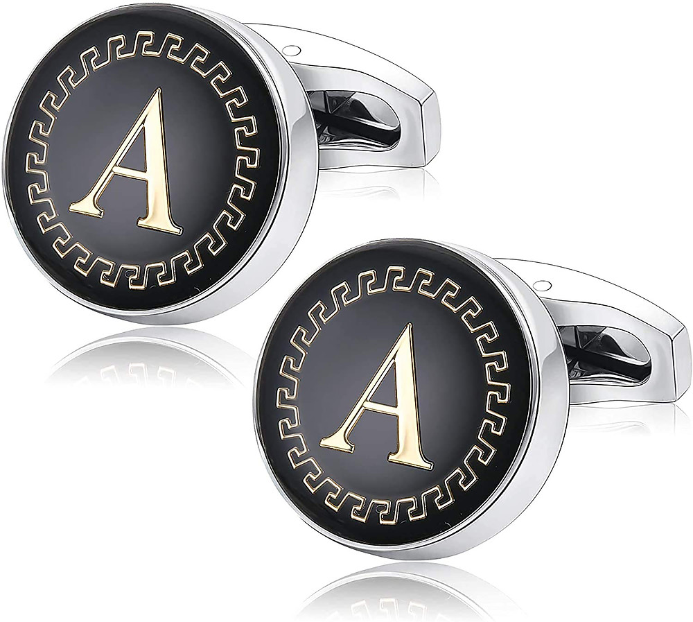 Alphabet A Statement Cuff Links