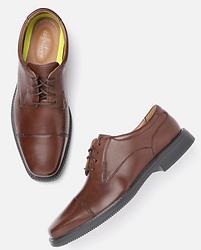 Clarks Men Brown Solid Leather Formal Derbys