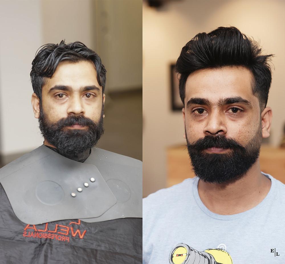 Enzo League's Hair & Beard Styling