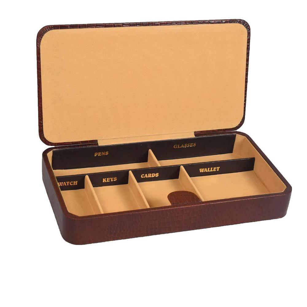 Men's 6 compartment leather organizer