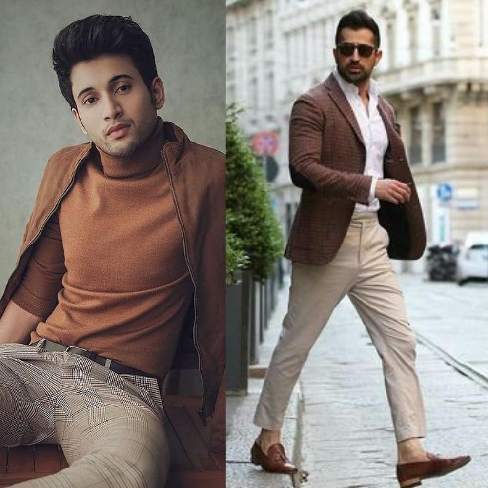Rohit Saraf wearing brown collar neck t-shirts