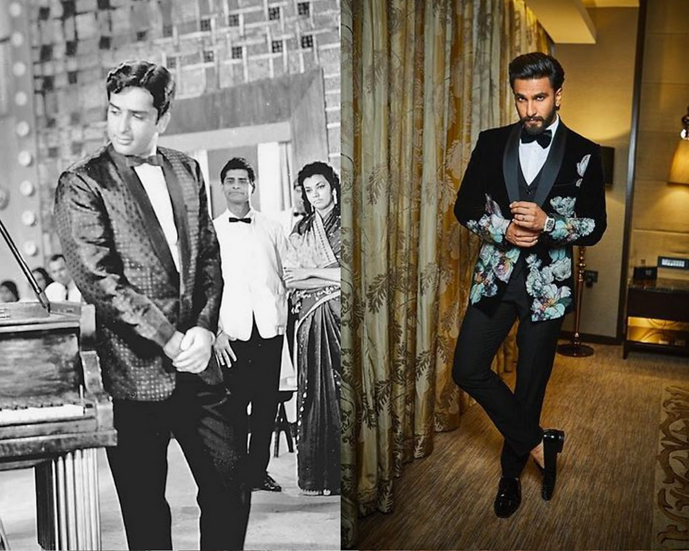 Shashi Kapoor and Ranveer Singh in a Tuxedo