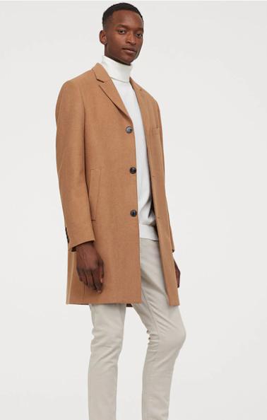Men's Brown Wool Coat
