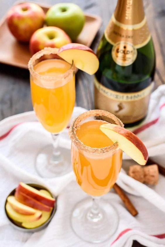 Apple Cider Champagne Cocktail