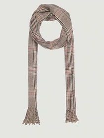 Men Brown Checked Scarf