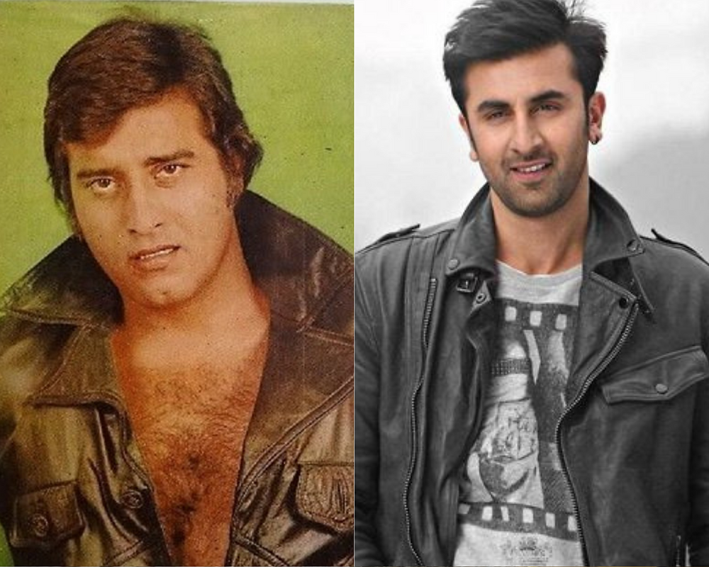 Vinod Khanna and Ranbhir Kapoor in a bomber jacket