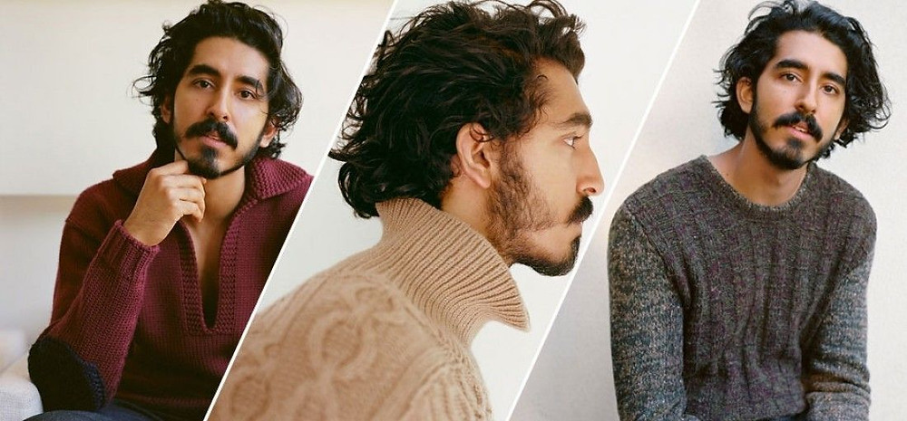 Dev Patel in different t-shirts color shades