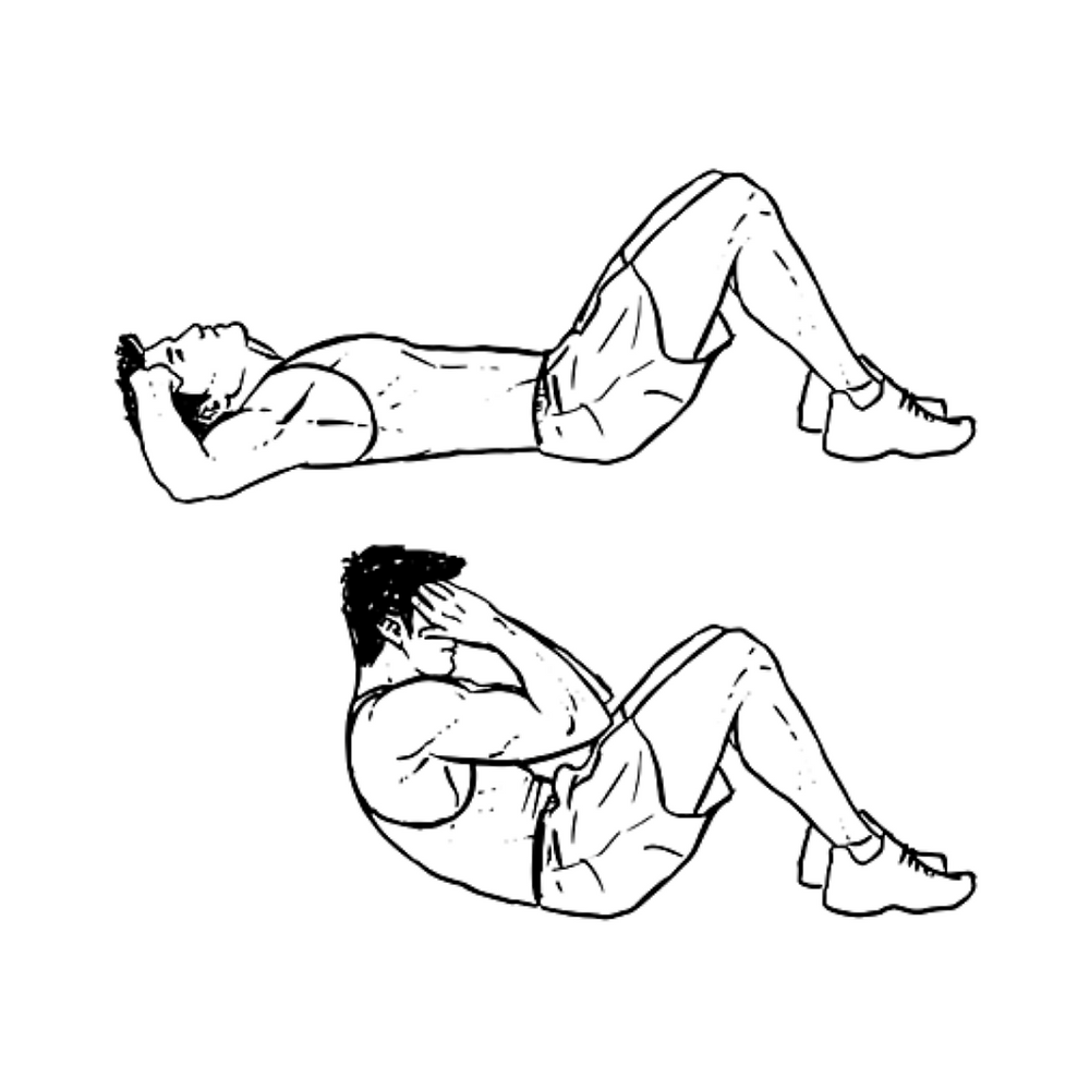 Man doing situp exercise
