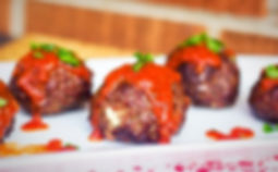 Beef and Mozzarella Meatballs