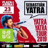 SEBASTIAN YATRA - YATRA YATRA TOUR 2019 PLAZA ARENA - SANTIAGO DE SURCO - LIMA23/11/2019 21:30:00