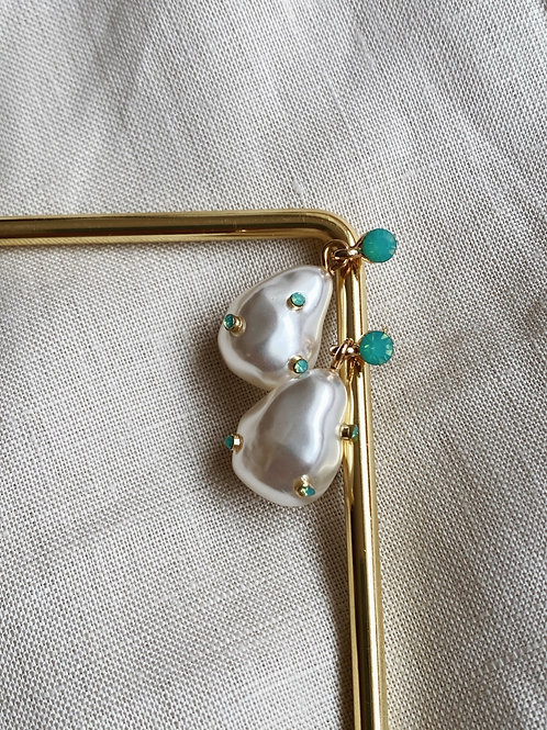 Aretes gotas de perla - Zaatar