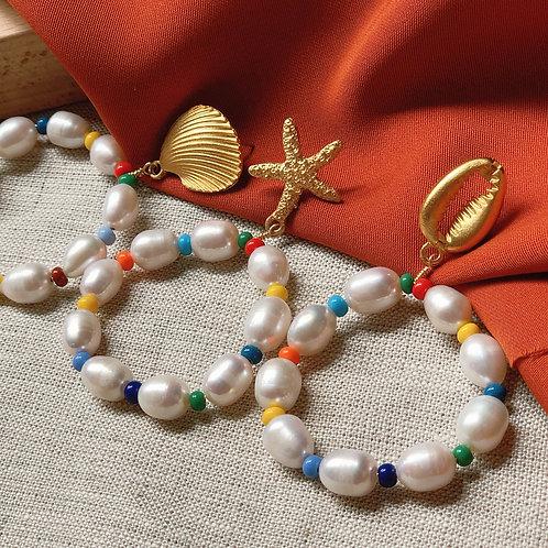 Aretes Perlas del mar