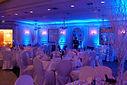 Uplighting at a wedding