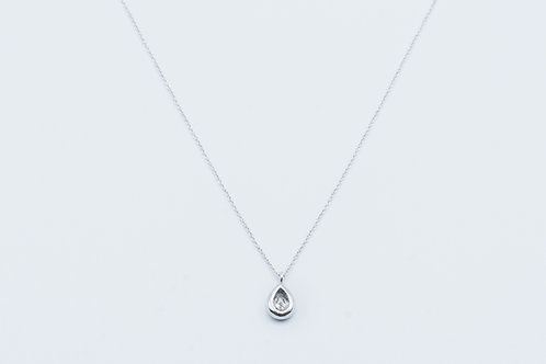 Colgante de Diamantes y Oro Blanco 18K