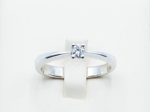 Anillo de Diamantes y Oro Blanco 18K
