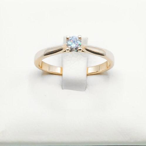 Alianza de Diamantes y Oro rosa. 18K
