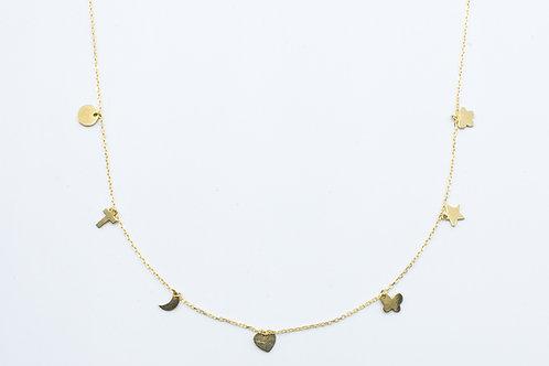 Gargantilla de Símbolos. Oro Amarillo
