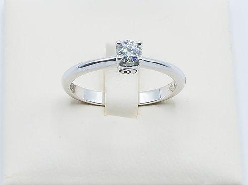 Alianza DAMIANI de Diamantes y Oro Blanco 18K