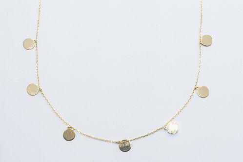 Gargantilla de Medallones. Oro Amarillo