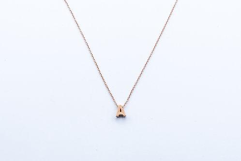 """Colgante letra """"A"""" de Diamantes y Oro Blanco"""