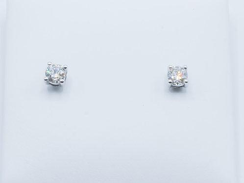 Pendientes de Diamantes y Oro Blanco 18K