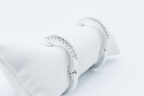 Pendientes de aro. Oro Blanco y Diamantes