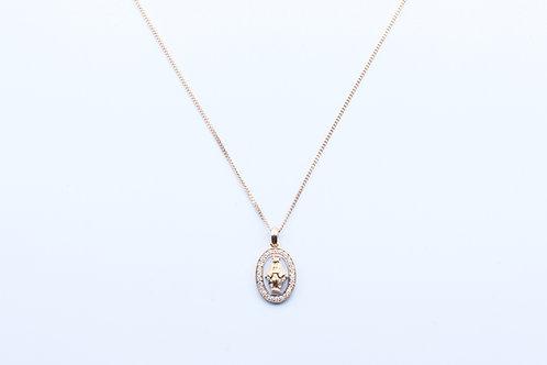 Crivelli. Colgante Madonna, de Diamantes y Oro Rosa.
